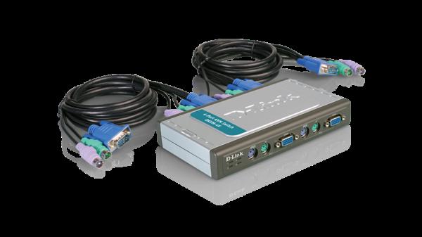 سوییچ 4 پورت USB-KVM دی لینک مدل DKVM-4U