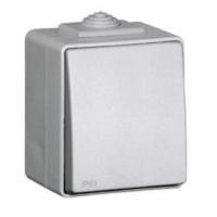 کلید تک پل روکار خاکستری IP65 برند ایفاپل کد 48011CCZ