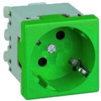 پریز برق ارت دار سبز Q45 ایفاپل مدل 45131 SVD